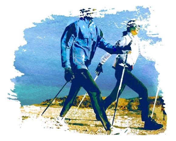 Скандинавская ходьба (ходьба с палками)